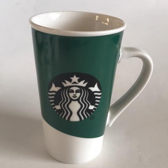 starbucks coffee mug green black siren logo